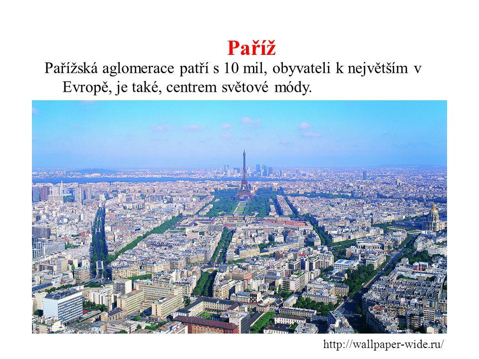 Paříž http://wallpaper-wide.ru/ Pařížská aglomerace patří s 10 mil, obyvateli k největším v Evropě, je také, centrem světové módy.