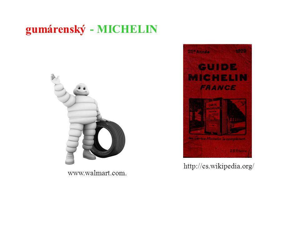 gumárenský - MICHELIN www.walmart.com. http://cs.wikipedia.org/