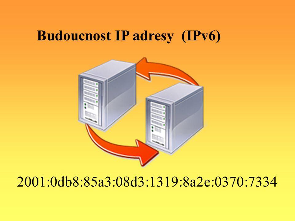 2001:0db8:85a3:08d3:1319:8a2e:0370:7334 Budoucnost IP adresy (IPv6)