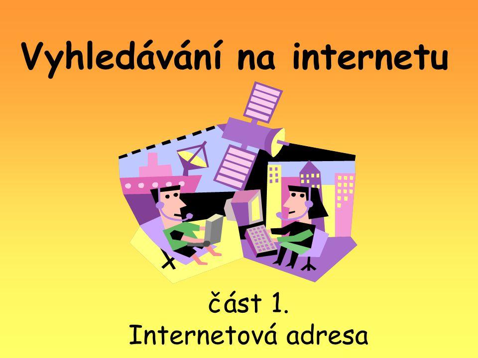 Vyhledávání na internetu část 1. Internetová adresa
