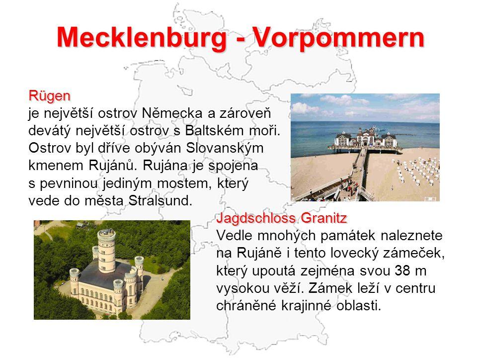Mecklenburg - Vorpommern Rügen je největší ostrov Německa a zároveň devátý největší ostrov s Baltském moři. Ostrov byl dříve obýván Slovanským kmenem
