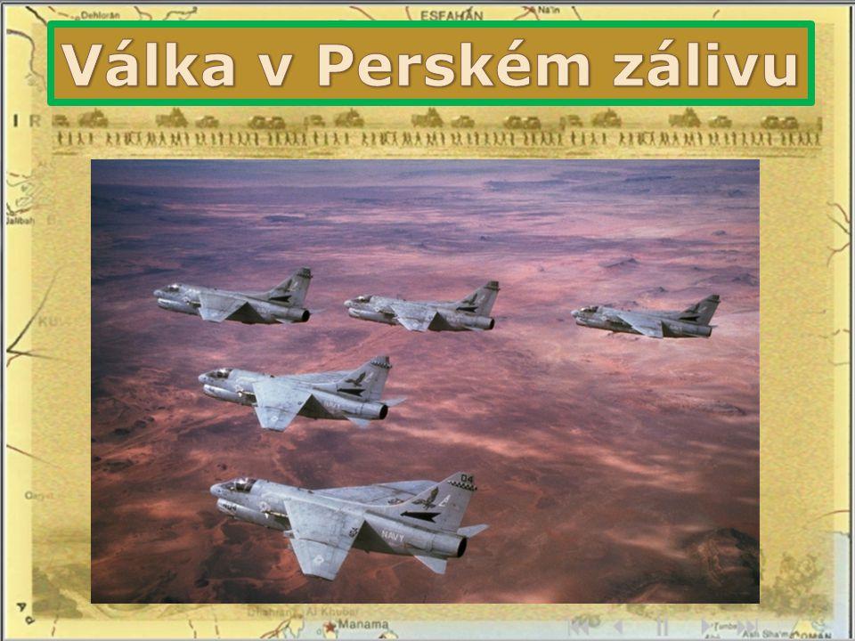 letectvo USA, Saúdské Arábie a Kuvajtu útočilo na raketové základny, radary aj.