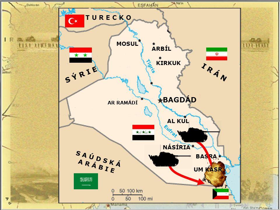 Hlavním důvodem byla snižující se cena ropy na světovém trhu, obrovské zadlužení Iráku z války s Íránem a překročení těžebních limitů o 20% ze strany Kuvajtu.