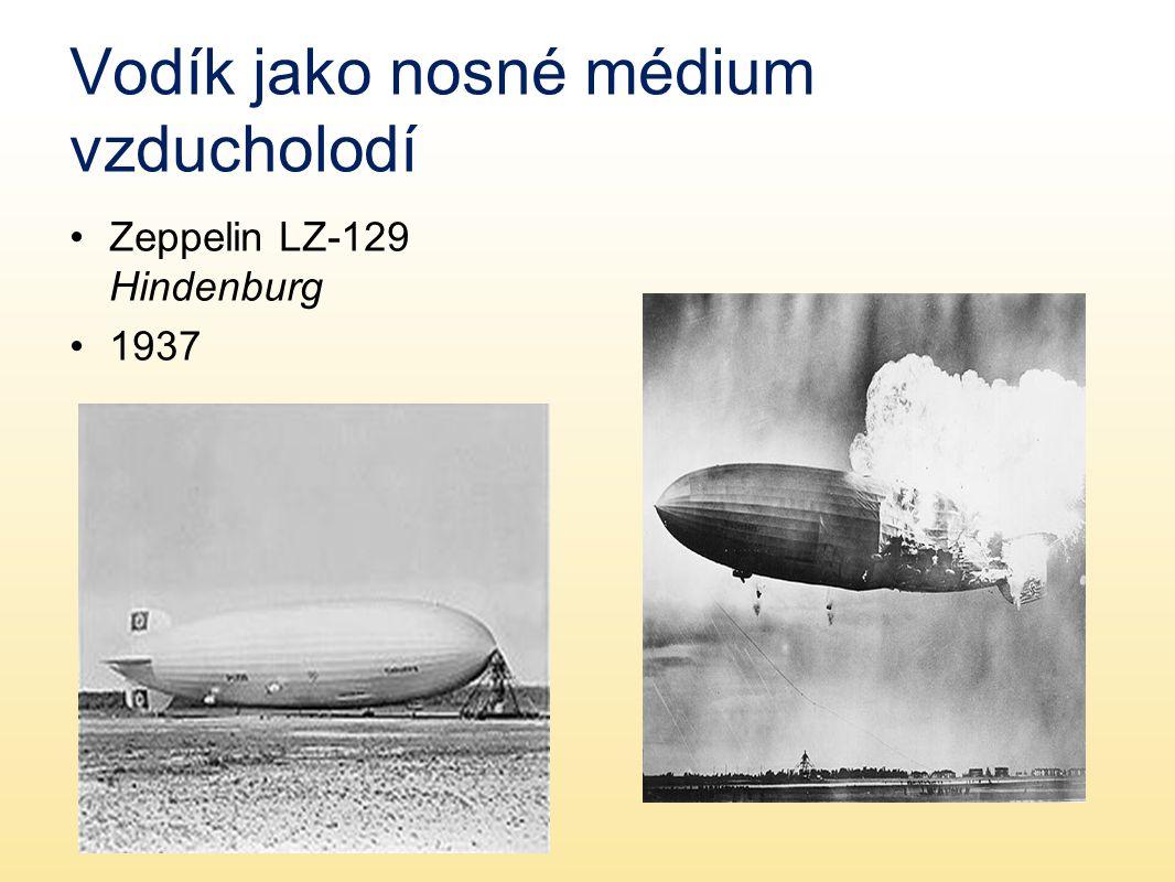 Vodík jako nosné médium vzducholodí Zeppelin LZ-129 Hindenburg 1937