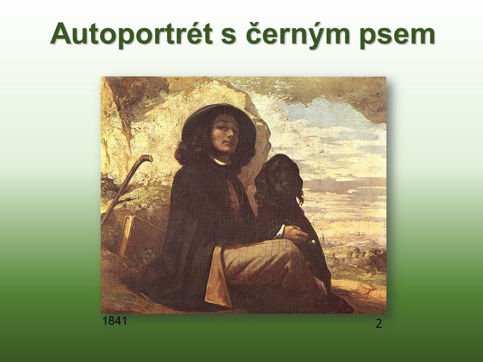 Autoportrét s černým psem 2 1841