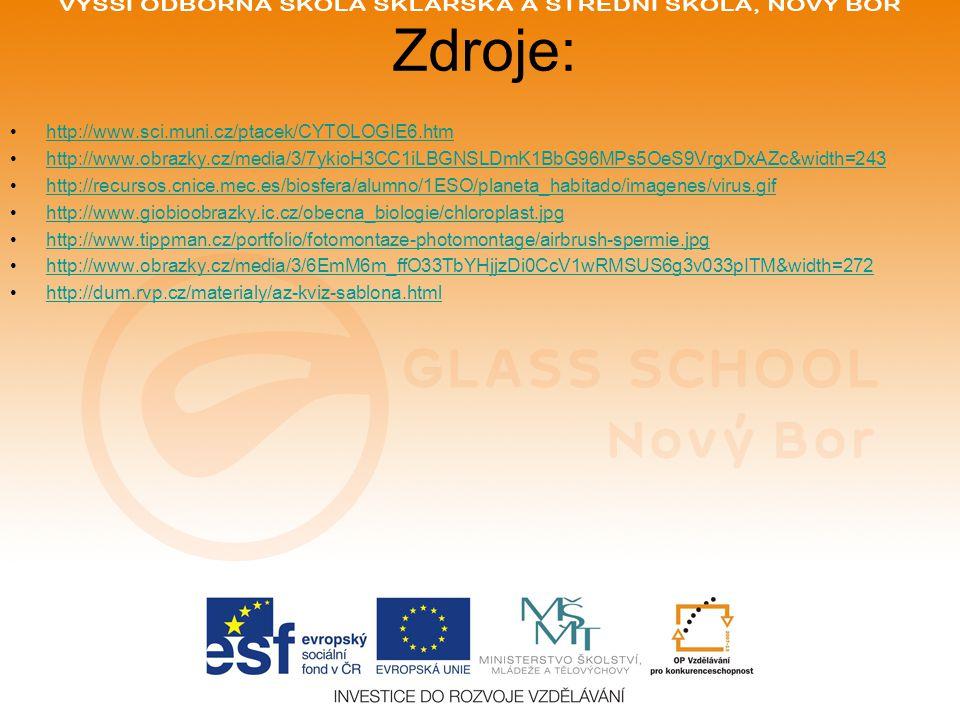 Zdroje: http://www.sci.muni.cz/ptacek/CYTOLOGIE6.htm http://www.obrazky.cz/media/3/7ykioH3CC1iLBGNSLDmK1BbG96MPs5OeS9VrgxDxAZc&width=243 http://recurs
