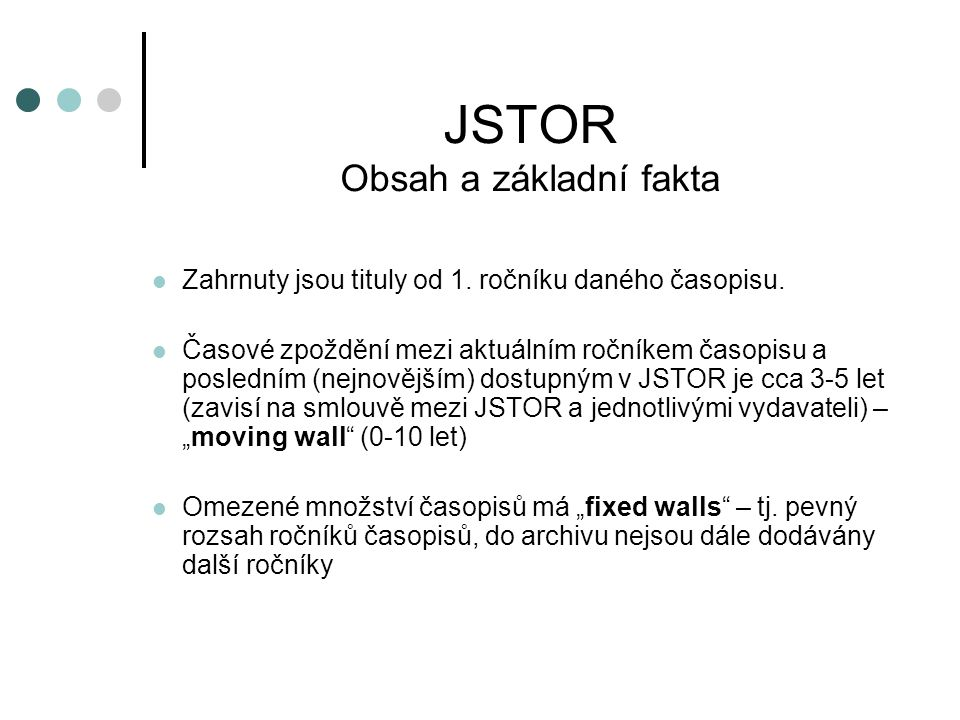 JSTOR - Browse by Title