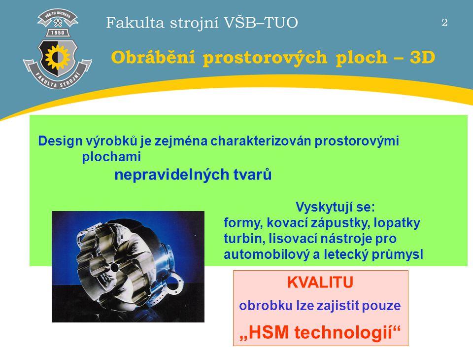 1 Seminář Zbytková napětí 2013 na VŠB-TU Ostrava Vysokorychlostní 3D obrábění a integrita povrchu Prof. Dr. Ing. Josef BRYCHTA