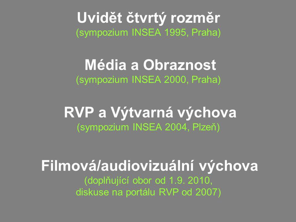 Uvidět čtvrtý rozměr (sympozium INSEA 1995, Praha) Média a Obraznost (sympozium INSEA 2000, Praha) RVP a Výtvarná výchova (sympozium INSEA 2004, Plzeň) Filmová/audiovizuální výchova (doplňující obor od 1.9.