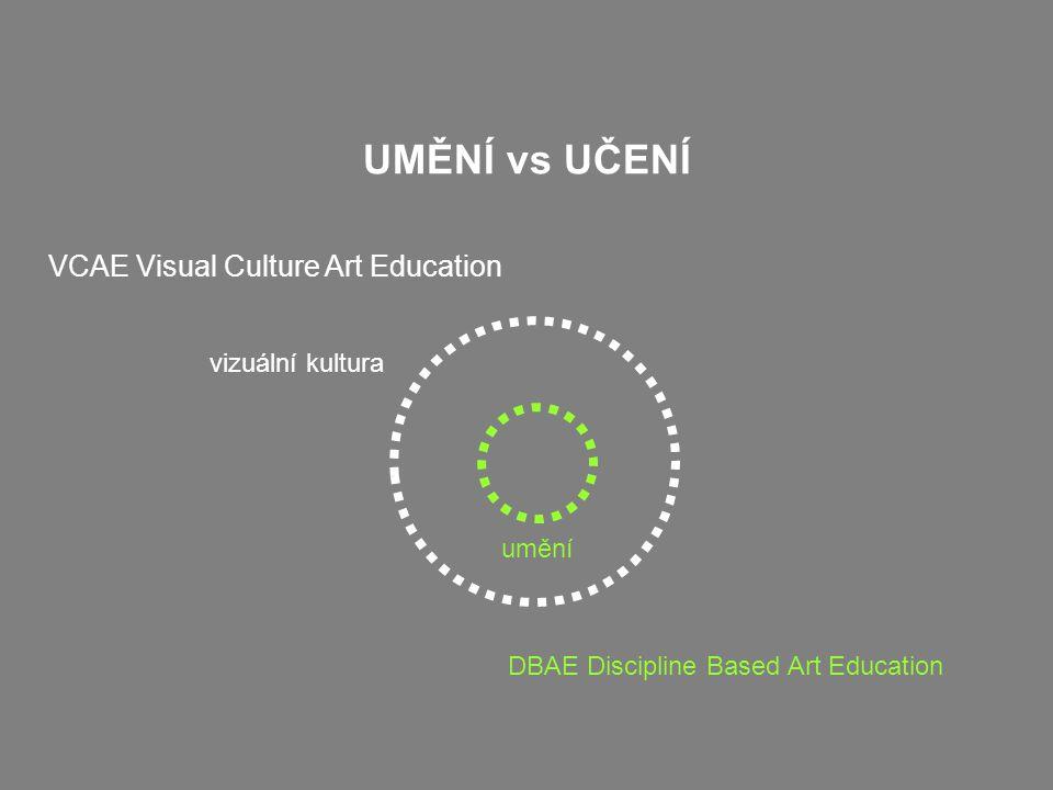 UMĚNÍ vs UČENÍ umění VCAE Visual Culture Art Education vizuální kultura DBAE Discipline Based Art Education