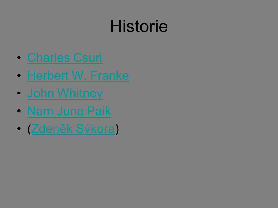 Historie Charles Csuri Herbert W. Franke John Whitney Nam June Paik (Zdeněk Sýkora)Zdeněk Sýkora