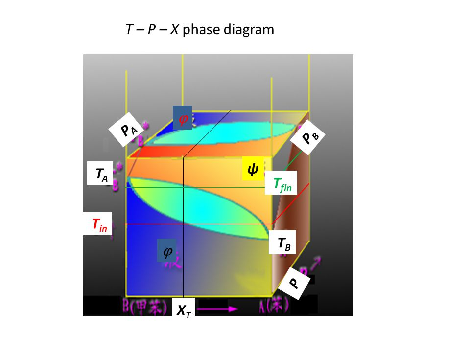 V   + ψ ψ T in T fin T d ln V/dT= = α   + ψ ψ T in T fin T V  +ψ = V  (X  )(1  ξ ψ ) + V ψ (X ψ ) ξ ψ ξ ψ = (X T -X  )/(X ψ -X  ) dξ ψ /dT =