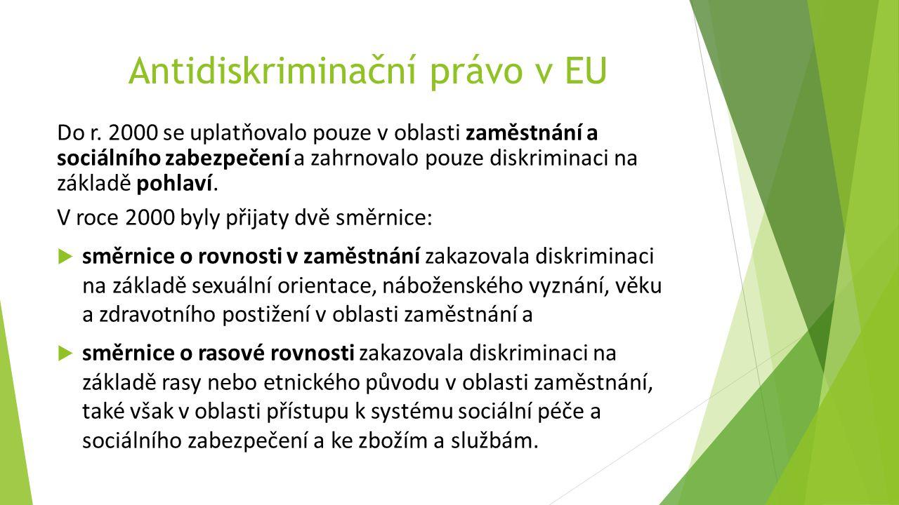 Antidiskriminační právo v EU Do r.