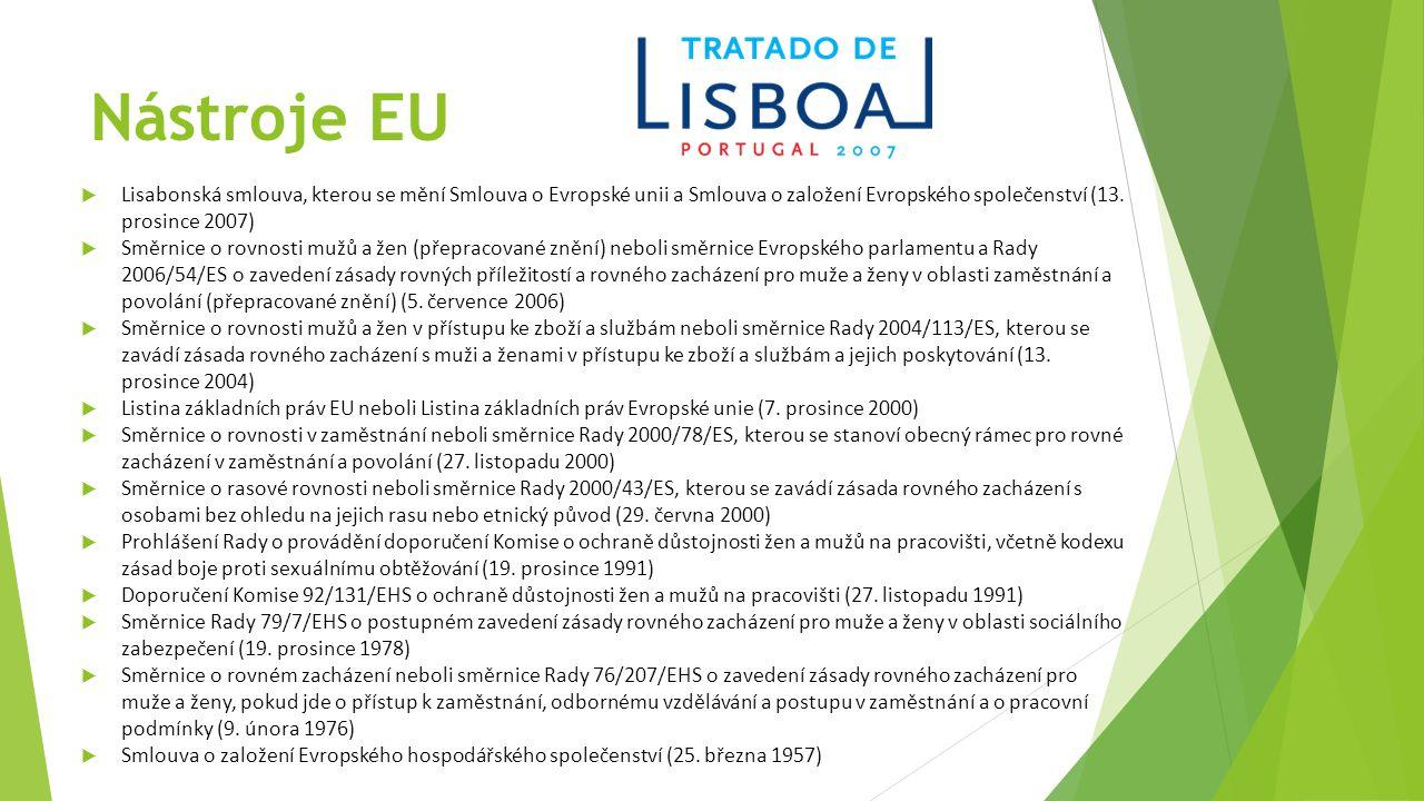 Nástroje EU  Lisabonská smlouva, kterou se mění Smlouva o Evropské unii a Smlouva o založení Evropského společenství (13.