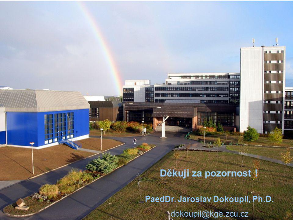 Děkuji za pozornost ! PaedDr. Jaroslav Dokoupil, Ph.D. dokoupil@kge.zcu.cz