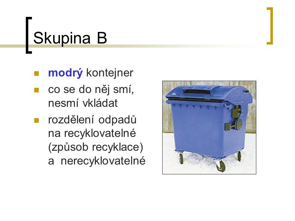 """Skupina A Proč vůbec používáme nádoby na tříděný odpad? Anketa v okolí – """"Třídíte odpad?"""