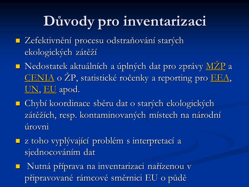 Cíle inventarizace v 1.