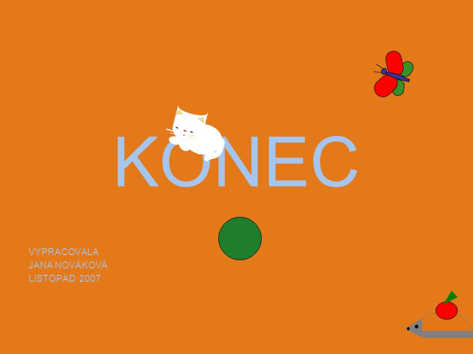 KONEC VYPRACOVALA JANA NOVÁKOVÁ LISTOPAD 2007