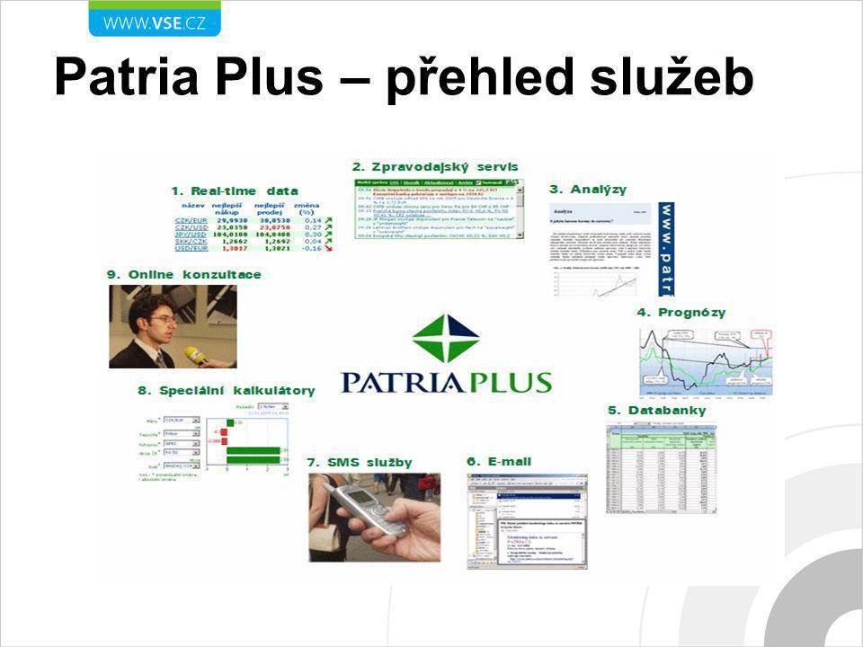 Patria Plus – přehled služeb