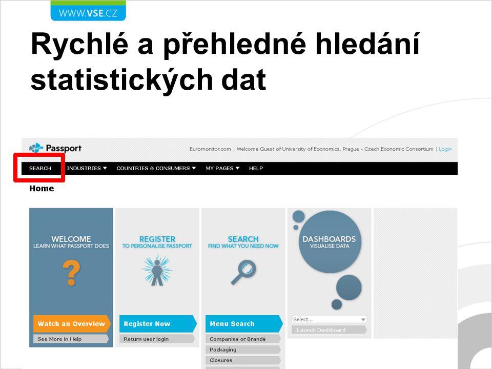 Rychlé a přehledné hledání statistických dat
