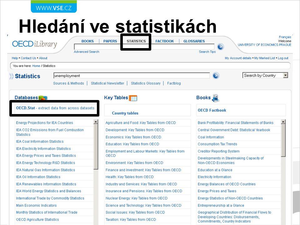 Hledání ve statistikách