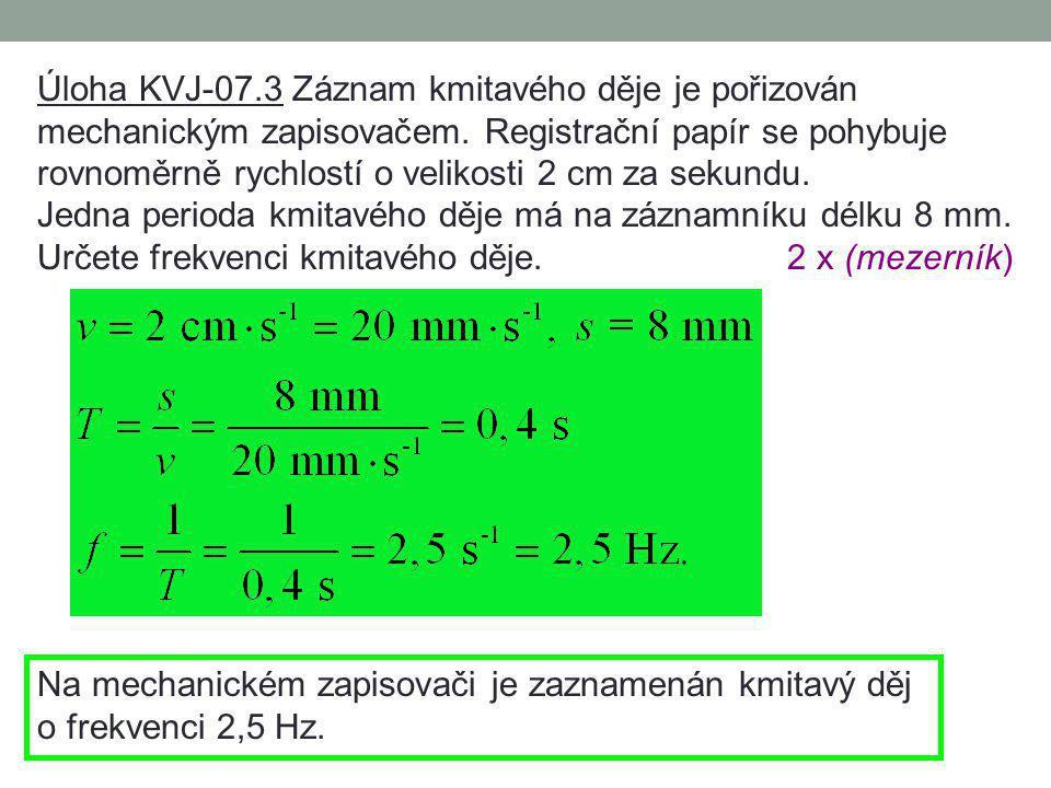 Úloha KVJ-07.2 Časový signál v rozhlase je tvořen čtyřmi zvukovými značkami o frekvenci 1000 Hz, z nichž první tři mají trvání po 100 ms a čtvrtá 500