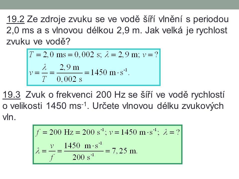 19.Mechanické vlnění – příklady I.