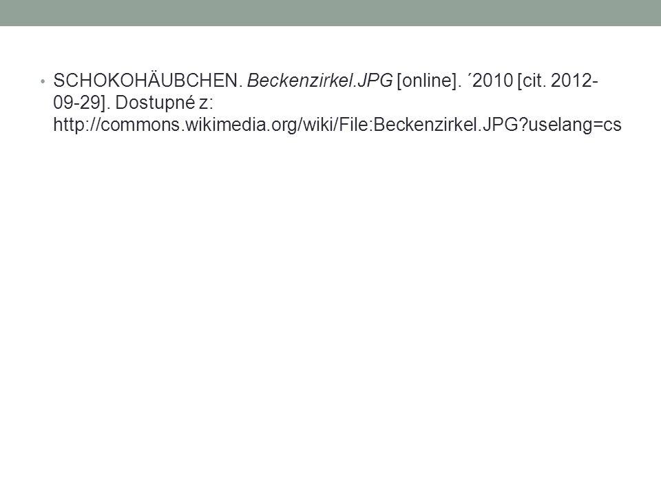 SCHOKOHÄUBCHEN. Beckenzirkel.JPG [online]. ´2010 [cit. 2012- 09-29]. Dostupné z: http://commons.wikimedia.org/wiki/File:Beckenzirkel.JPG?uselang=cs