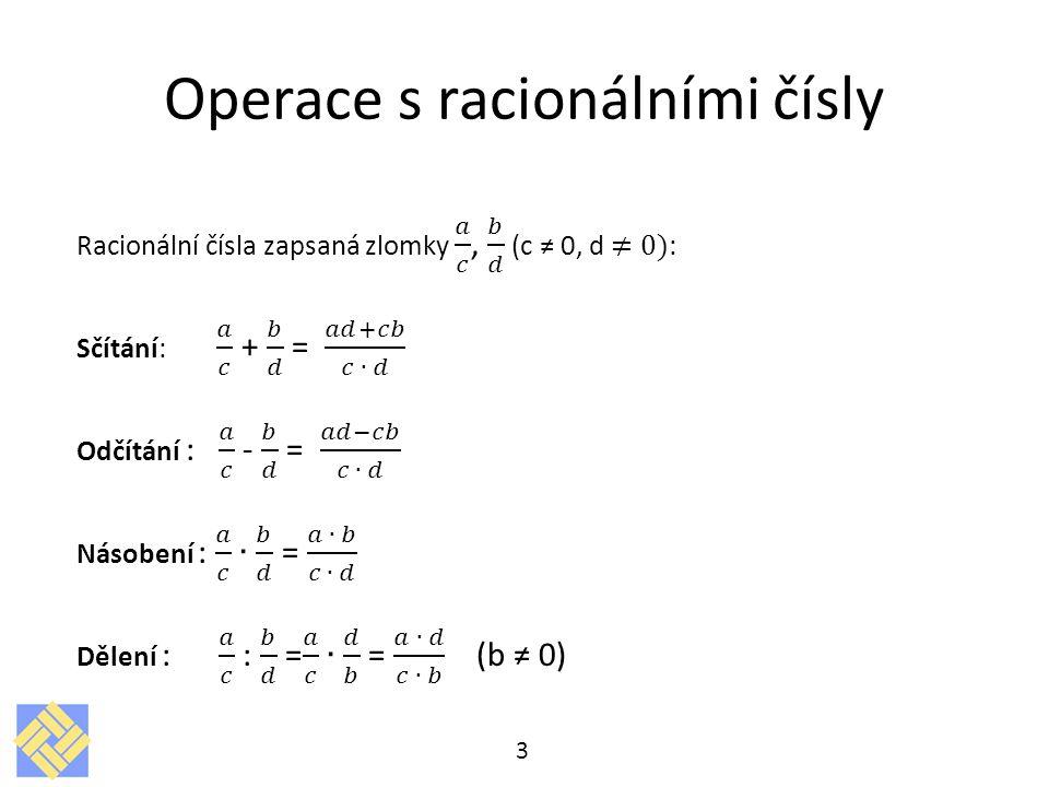 Operace s racionálními čísly 3