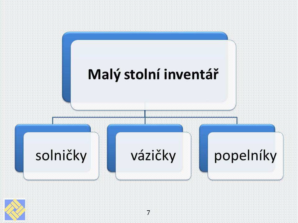 18 Zdroje Literatura: SALAČ, Gustav.Stolničení. Praha: Fortuna, 1996, 217 s.