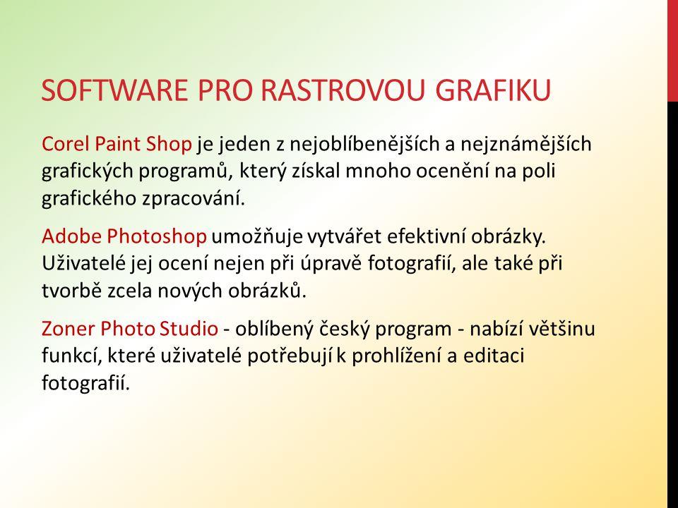 SOFTWARE PRO RASTROVOU GRAFIKU Corel Paint Shop je jeden z nejoblíbenějších a nejznámějších grafických programů, který získal mnoho ocenění na poli grafického zpracování.