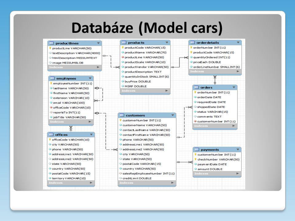 Databáze (Model cars)