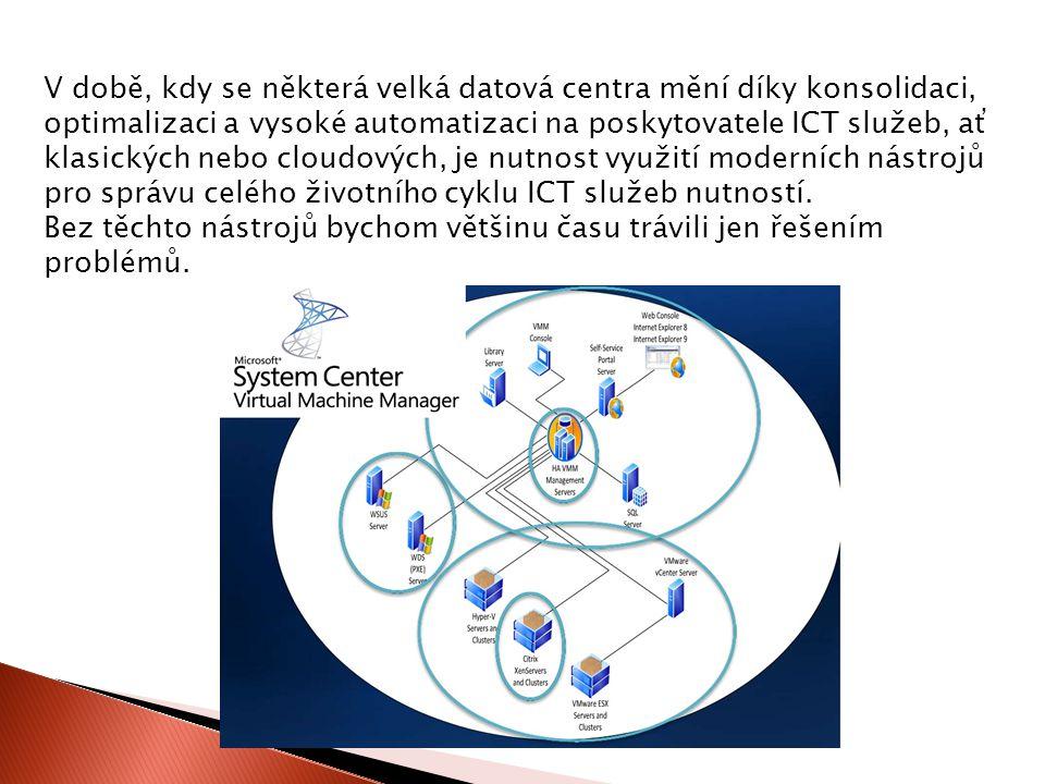 V době, kdy se některá velká datová centra mění díky konsolidaci, optimalizaci a vysoké automatizaci na poskytovatele ICT služeb, ať klasických nebo cloudových, je nutnost využití moderních nástrojů pro správu celého životního cyklu ICT služeb nutností.