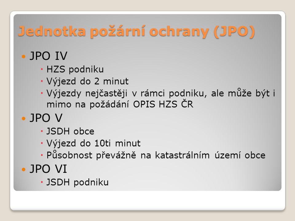 Jednotka požární ochrany (JPO) JPO IV  HZS podniku  Výjezd do 2 minut  Výjezdy nejčastěji v rámci podniku, ale může být i mimo na požádání OPIS HZS
