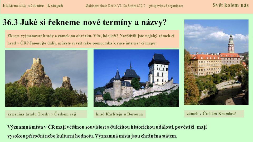 36.4 Přírodní památky ČR Elektronická učebnice - I.