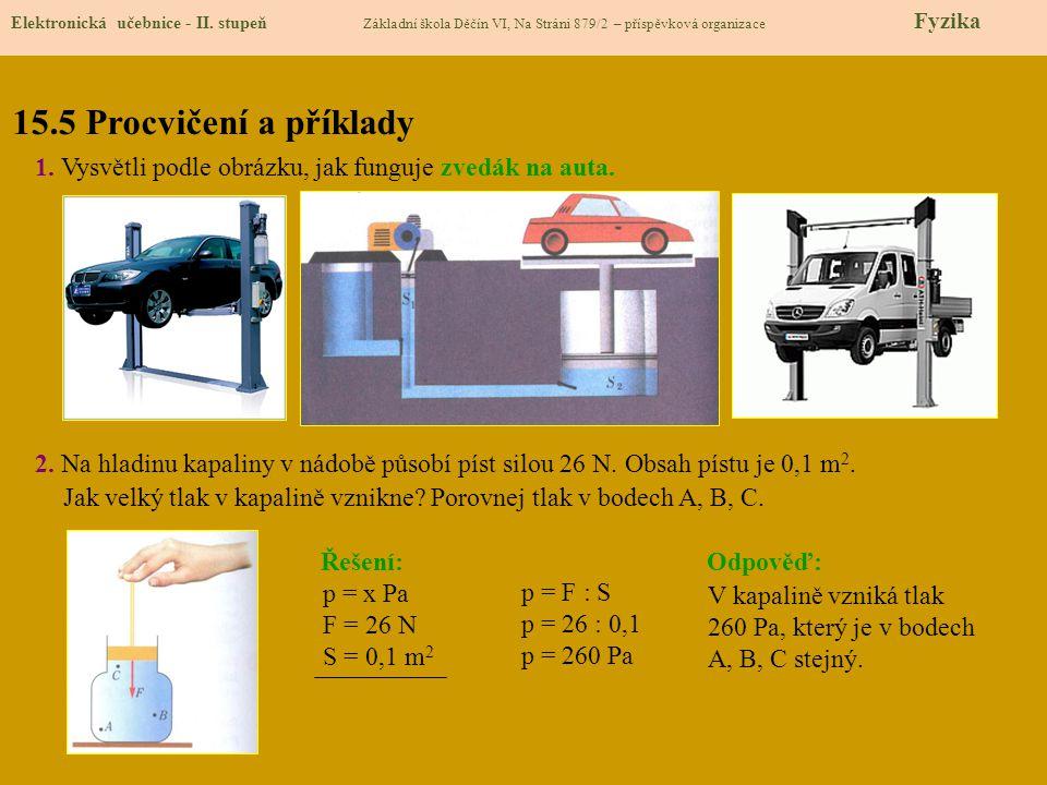 15.5 Procvičení a příklady Elektronická učebnice - II.