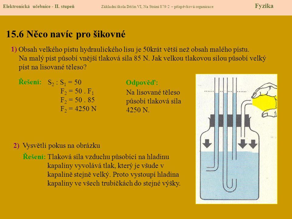 15.6 Něco navíc pro šikovné Elektronická učebnice - II.