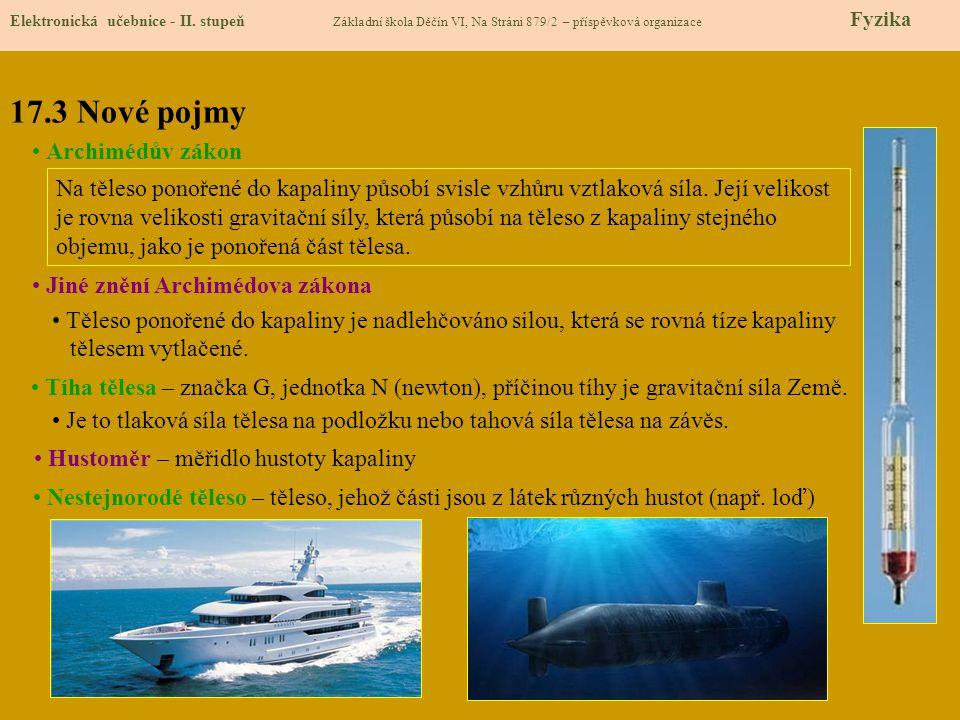 17.3 Nové pojmy Elektronická učebnice - II.