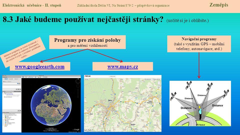 Elektronická učebnice - II. stupeň Základní škola Děčín VI, Na Stráni 879/2 – příspěvková organizace Zeměpis 8.3 Jaké budeme používat nejčastěji strán