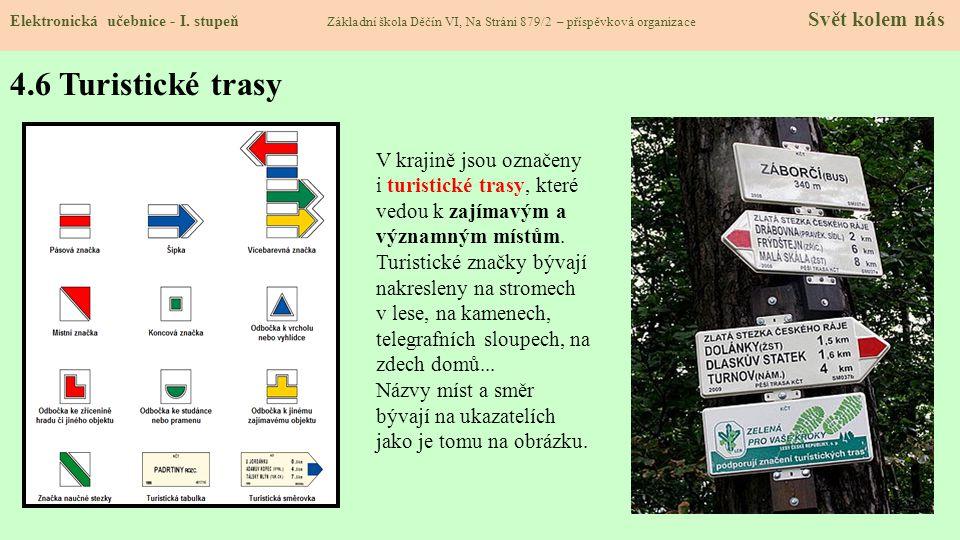4.6 Turistické trasy Elektronická učebnice - I.