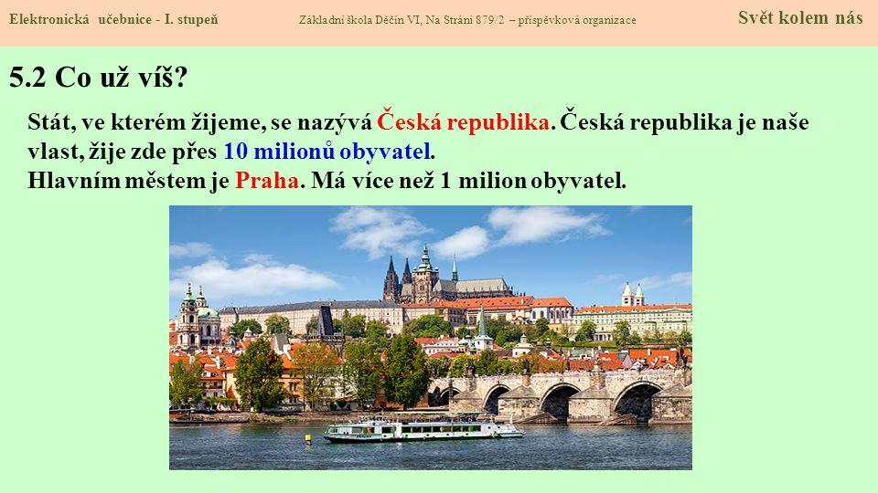 5.1 Místo, kde žijeme – ČESKÁ REPUBLIKA Elektronická učebnice - I.