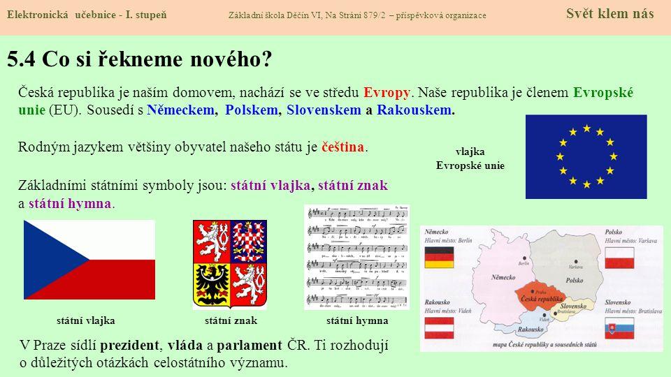 5.3 Jaké si řekneme nové termíny a názvy.Elektronická učebnice - I.