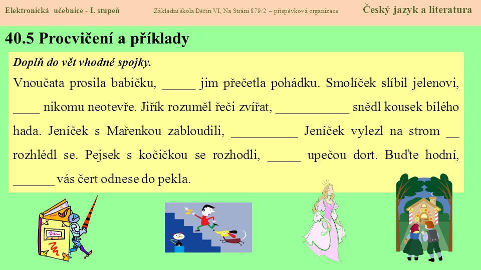 40.5 Procvičení a příklady Elektronická učebnice - I.