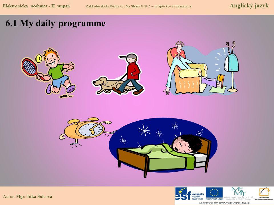 6.1 My daily programme Elektronická učebnice - II.
