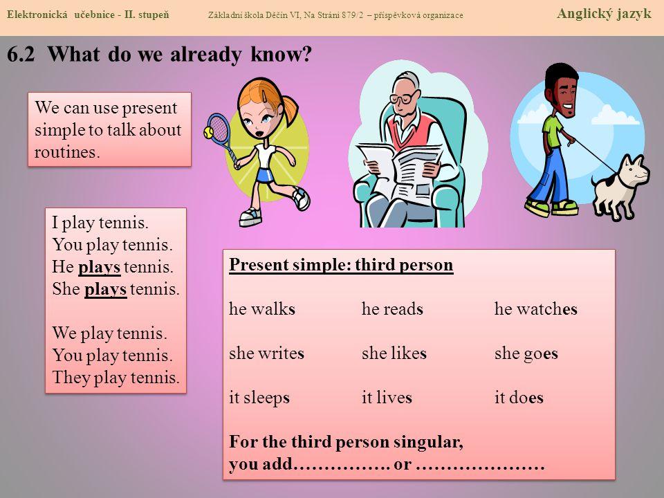 6.2 What do we already know.Elektronická učebnice - II.