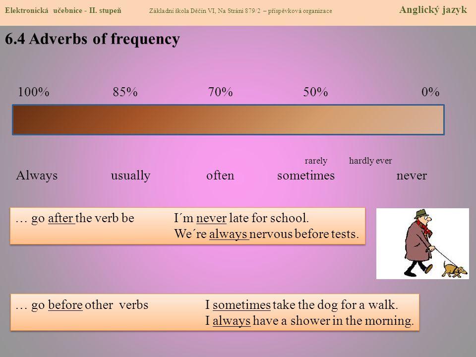 6.4 Adverbs of frequency Elektronická učebnice - II.
