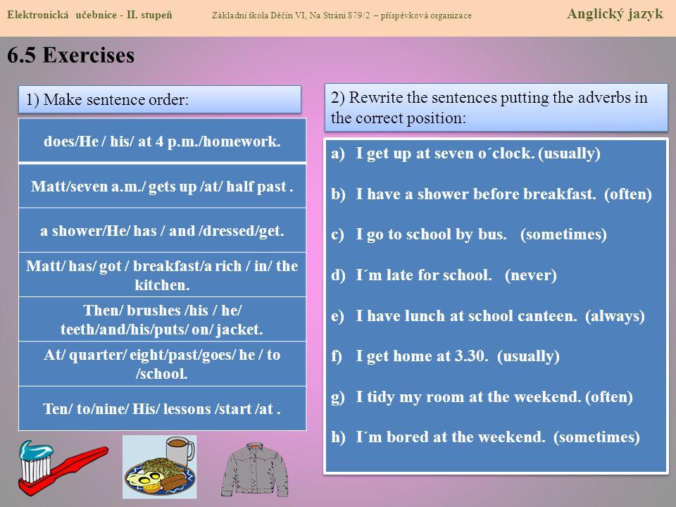 6.5 Exercises Elektronická učebnice - II.
