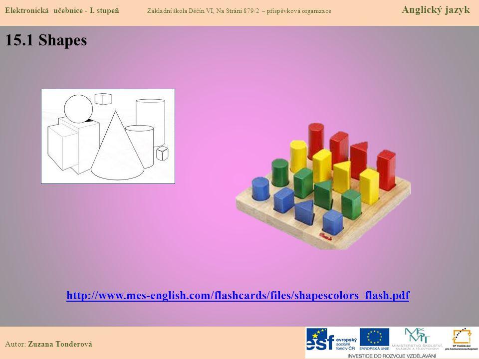 15.1 Shapes Elektronická učebnice - I.