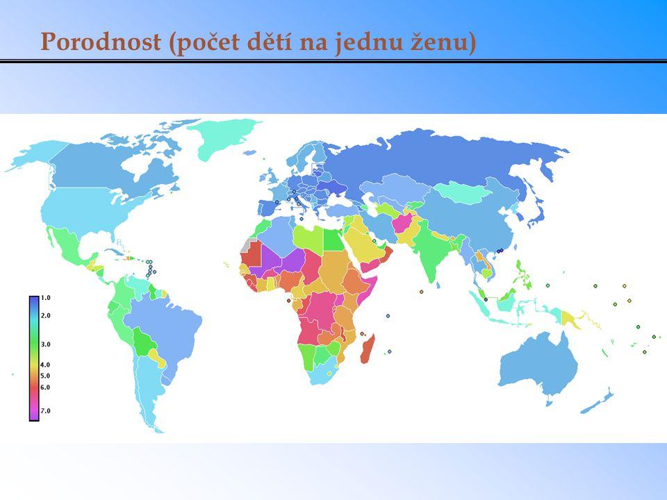 Porodnost (počet dětí na jednu ženu)