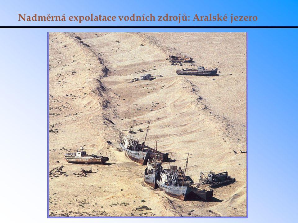 Nadměrná expolatace vodních zdrojů: Aralské jezero
